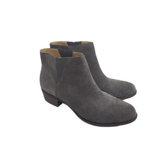 Lucky Brand Benissa Gray Suede Leather Booties 10